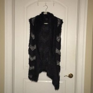 Soft fur detail vest